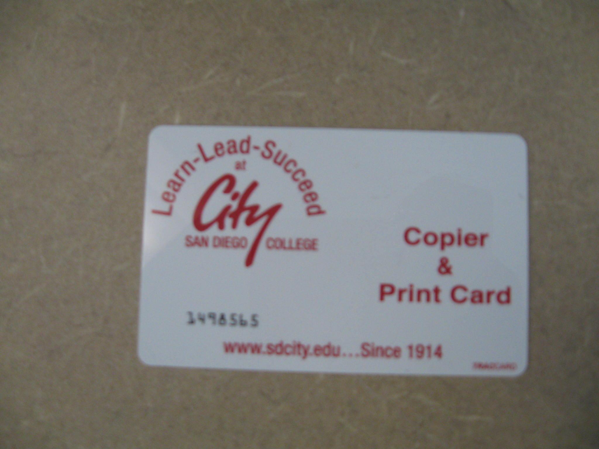 Print/Copy card