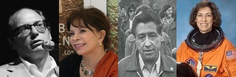 Pictures of Oscar Hijuelos, Isabel Allende, Cesar Chavez, Ellen Ochoa