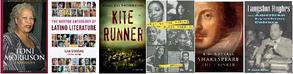 Picture of book covers: Kite Runner etc