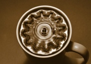 Cup of coffee vibrating
