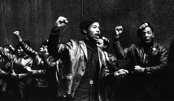 Members of the American Black Panther party, late 1960s.