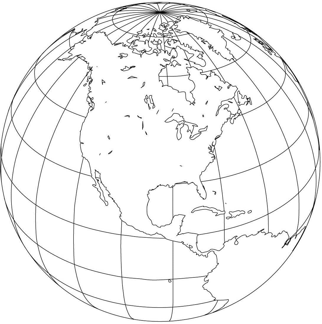 Map of the world globe (image from freeusandworldmaps.org)