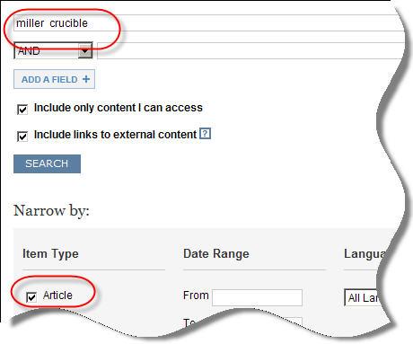Searching JSTOR database