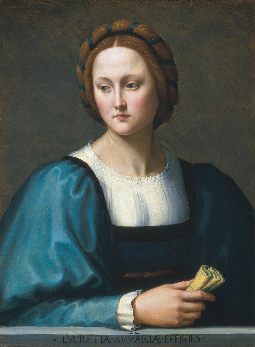 Lucrezia Sommaria, by Ridolfo Ghirlandaio, circa 1510