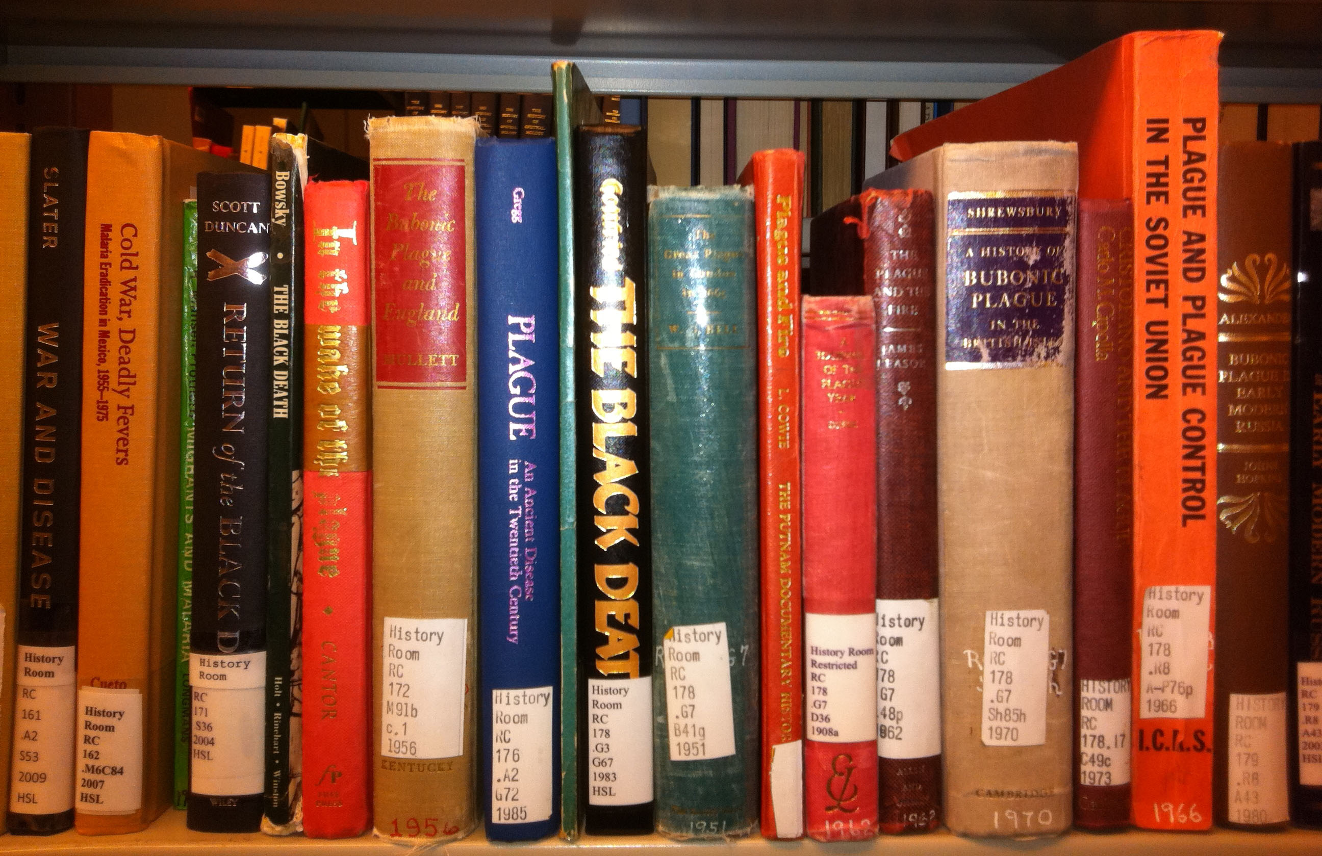 History of Medicine Books on a Shelf