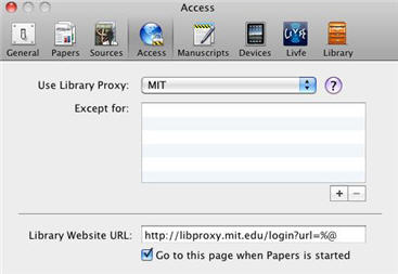 Papers proxy preferences