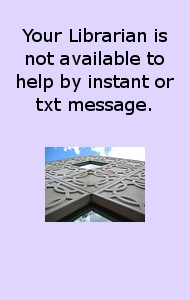 Your Librarian is not available to instant or txt message.