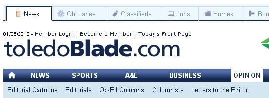 Toledo Blade website