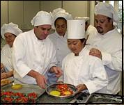 SRJC culinary institute students