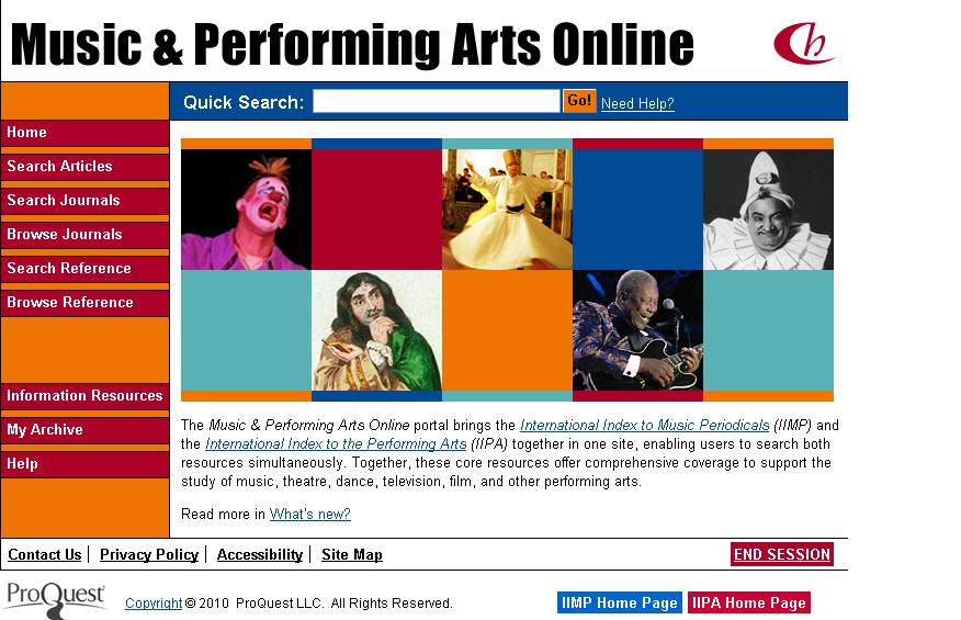 Music & Performing Arts Online