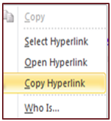 Copy Hyperlink