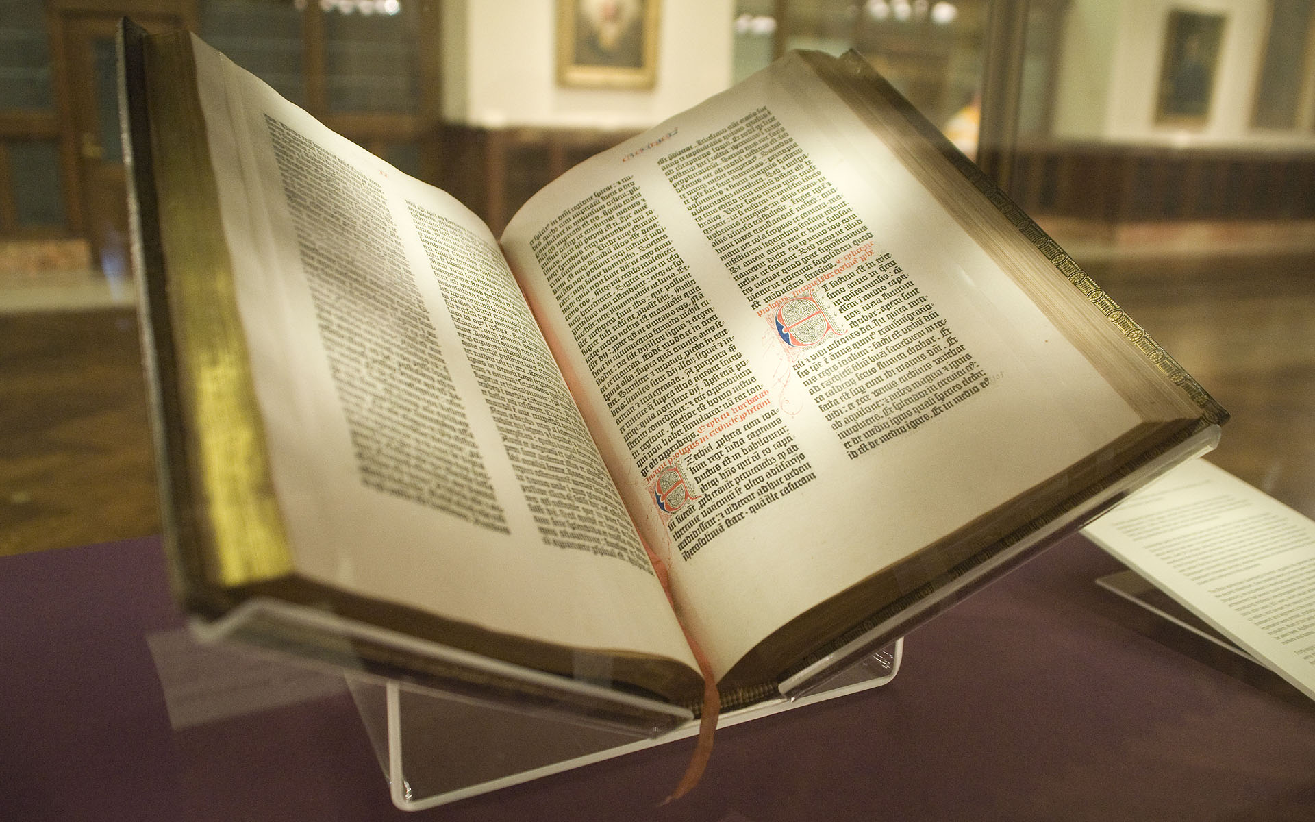 Gutenberg Bible - Lenox copy - NYPL