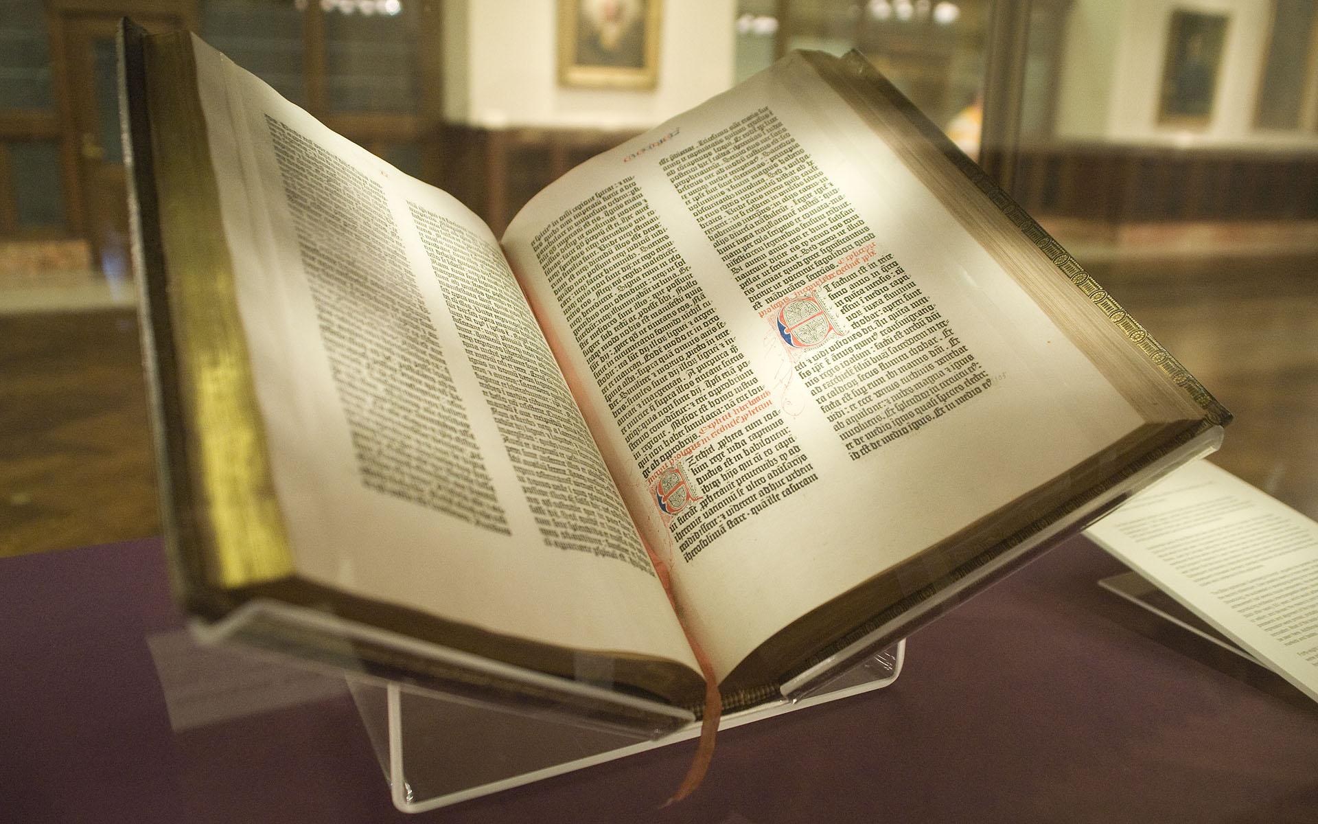 Gutenberg Bible - Lenox copy - NYPL