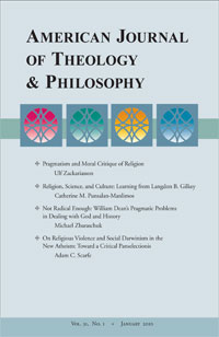 American Journal of Theology & Philosophy journal cover