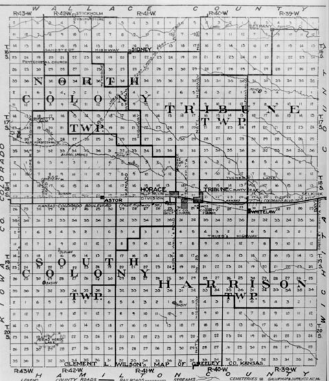 Early Greeley County map