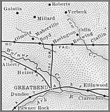 Barton County map