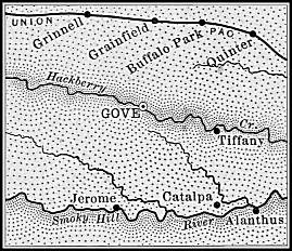Gove County map