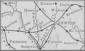 Harvey County map