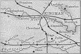 Kingman County map