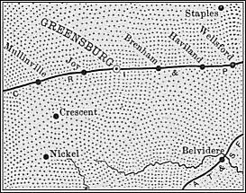 Kiowa County Map 1899