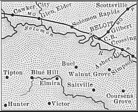 Mitchell County map