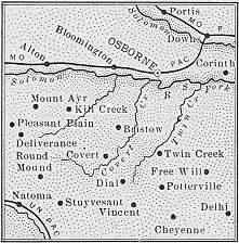 Osborne County map