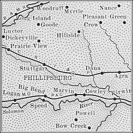 Map of Phillips County