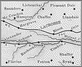 Rush County map