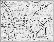 Republic County map