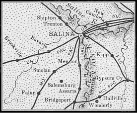 Saline County map