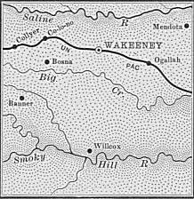 Trego County map