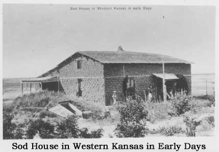Sod House in Western Kansas