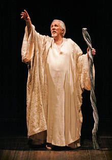 William Hutt as Prospero in The Tempest Stratford 2005