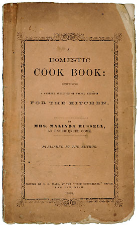 "Photograph of book cover: ""Domestic Cook Book for the Kitchen"""