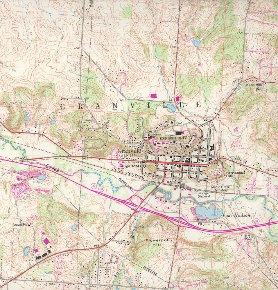 1907 Granville quad range map
