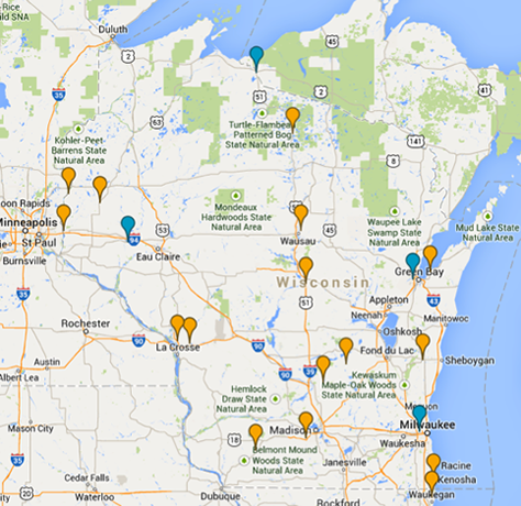 Map: Partial scholarships