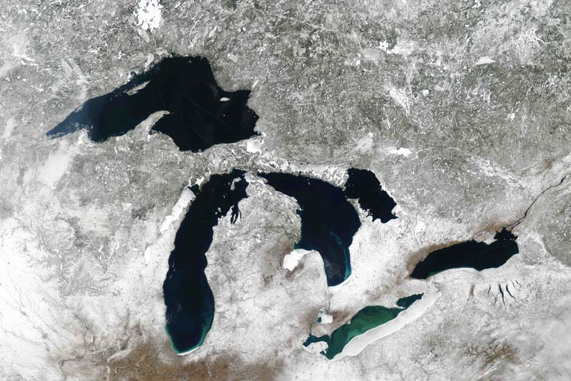Great Lakes (courtesy of GLERL)