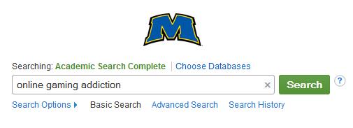 ASC database search box