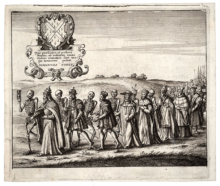 Procession of the Dance of Death. State 1. by Wenzel Hollar (1607-1677)