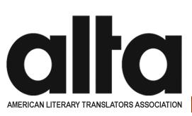 American Literary Translators Association (ALTA) logo.