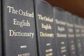 Oxford English Dictionary volumes on a shelf