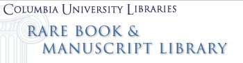Logo for Columbia University Libraries Rare Book and Manuscript Library