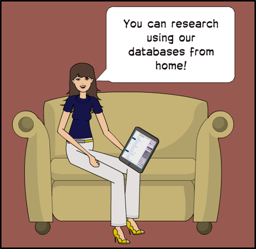 You can research using our databases from home!
