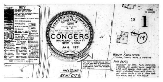 Congers Sanborn Maps