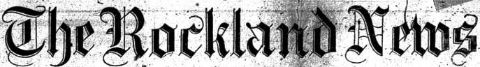 The Rockland News masthead