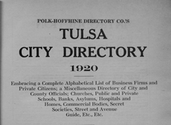 1920 city directory