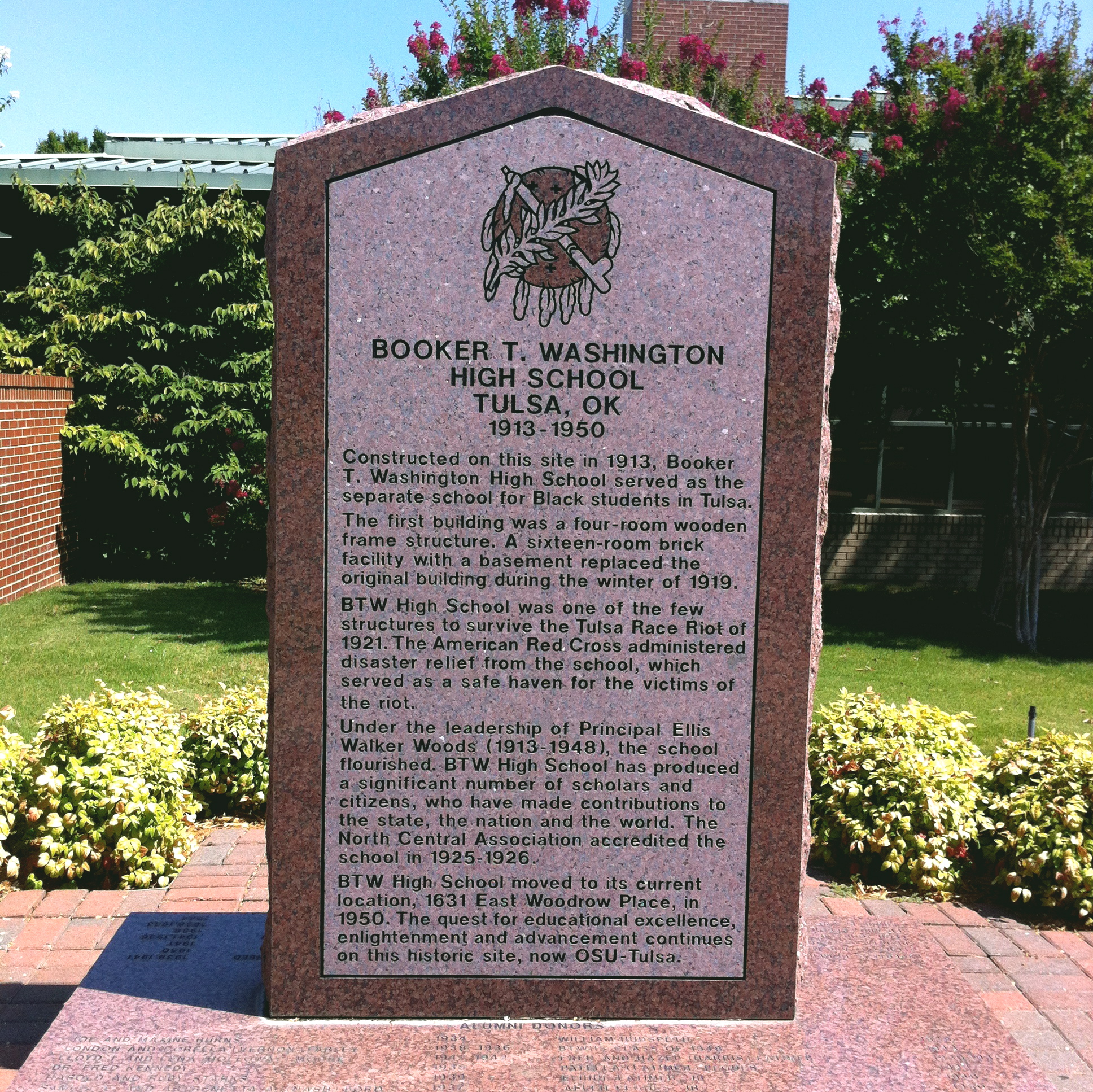 booker t. washington historic marker