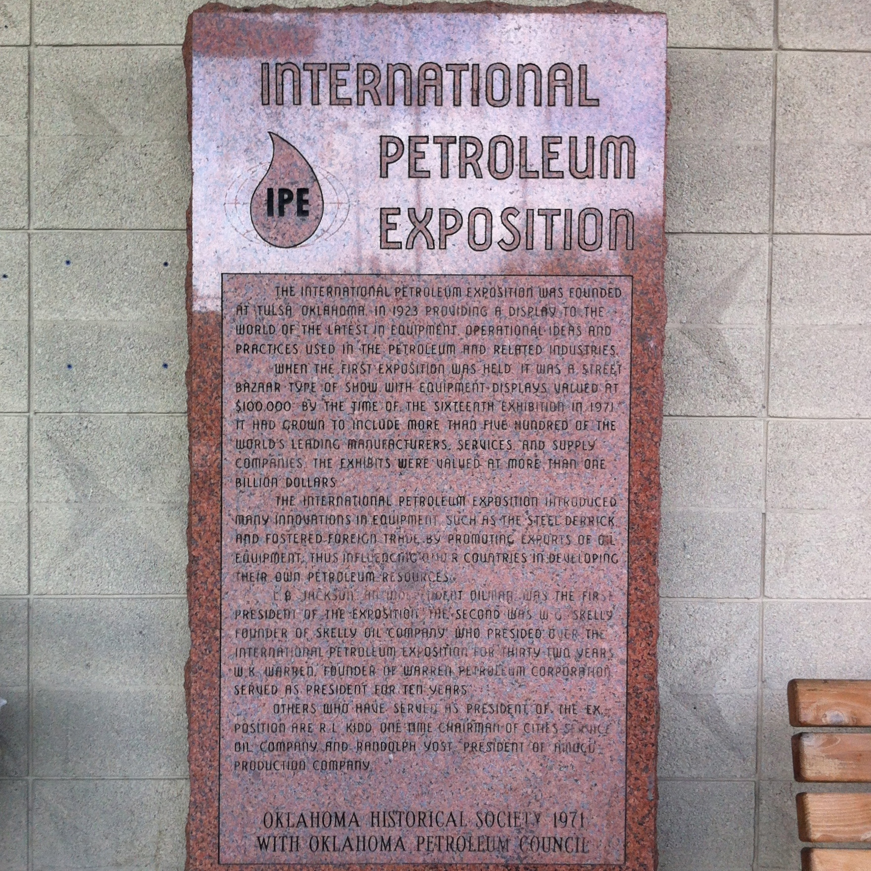 international petroleum exhibition historic marker