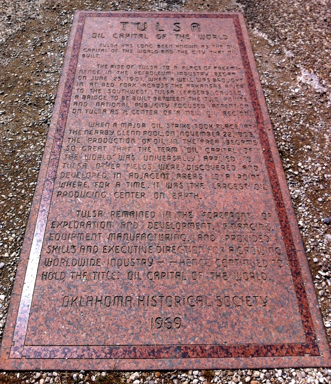 oil capital of the world historic marker