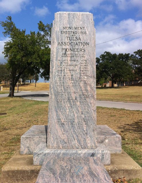 tulsa pioneer association monument